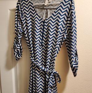 Chevron Tie Dress
